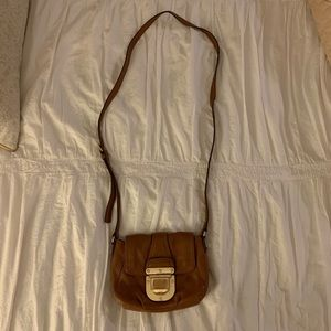 Michael Kors Small Leather Buckled Crossbody Bag